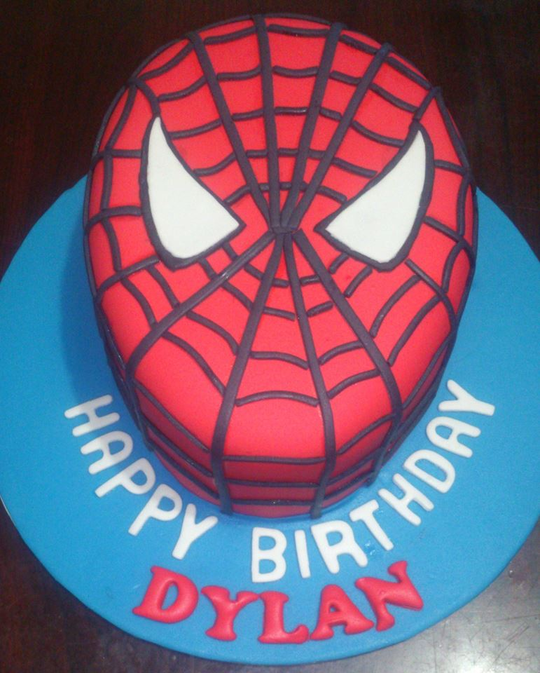 Cake Spiderman Face